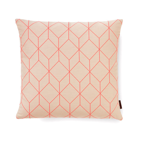 Bright Cube Square Pillow Coral by Scholten & Baijings