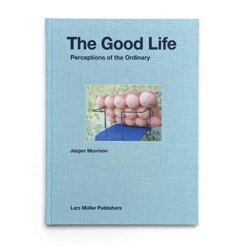 Light blue textured book cover with photograph of a pink and blue design object. Title above in black sans serif letters