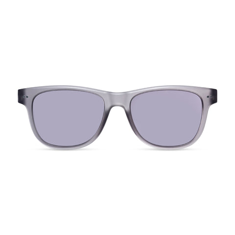 Sullivan Sun Reader. Gray translucent plastic frame with matt finish and gray lenses.