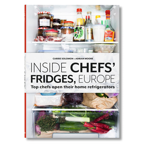 Book cover with photograph of a crowded fridge. Title in white horizontal band across the middle