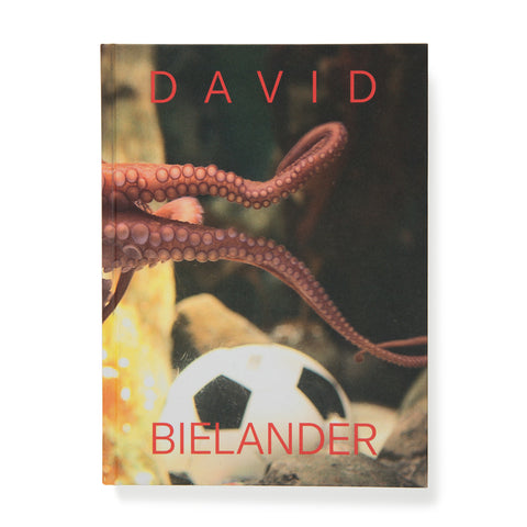 Book cover with seemingly underwater scene with tentacles encroaching into the frame over a soccer ball