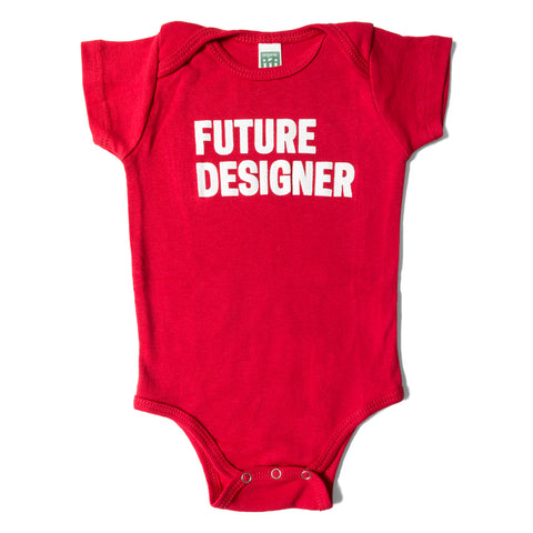 Red Future Designer Onesie