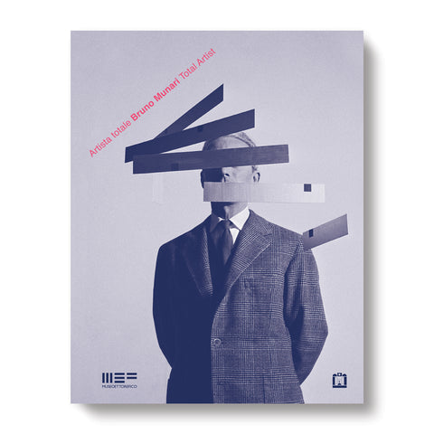 Book cover with a black and white photograph of a figure in a suit in front of a gray background. Floating rectangular shapes obstruct the figure's face. The title is printed in pink on in a diagonal line in the upper left corner