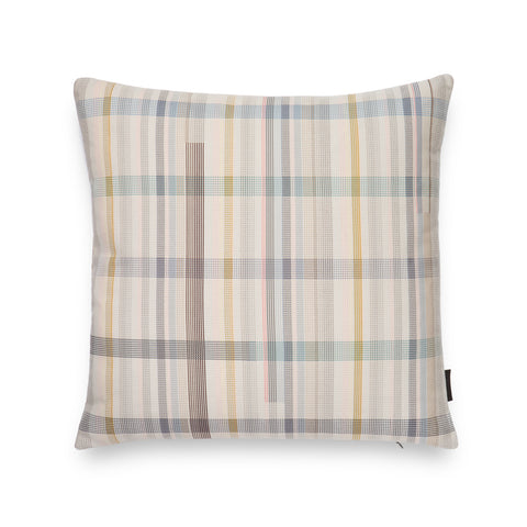 Pastel colored squared-shaped plaid pillow