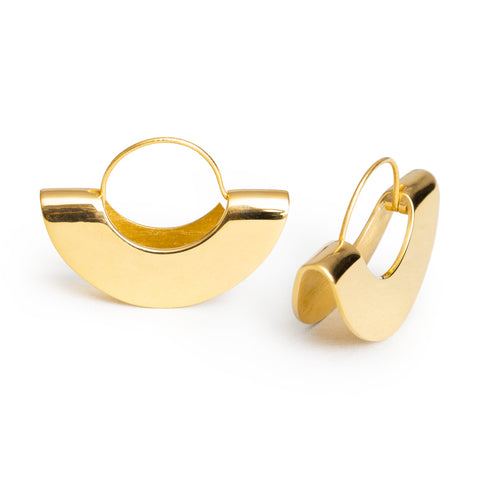 Double Date Earrings, Vermeil