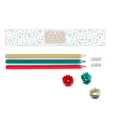 Christmas Pencil Set with Sharpener
