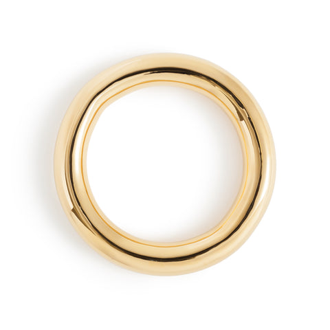 Stratus Bangle; thick gold plated brass bangle