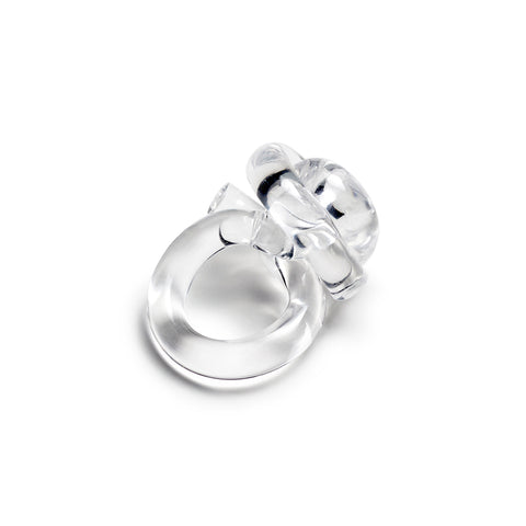 Knot Ring; clear lucite ring
