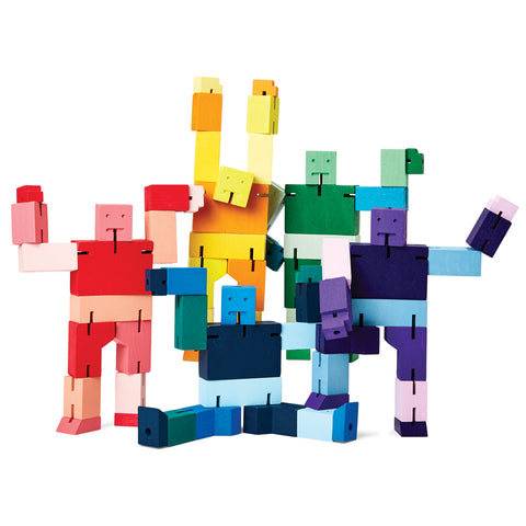 Five Capsule Collection Small Cubebots in all color options standing in playful poses.