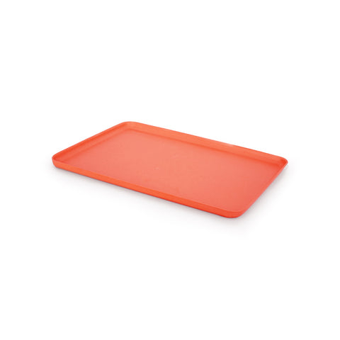 A medium sized rectangular serving tray in Persimmon