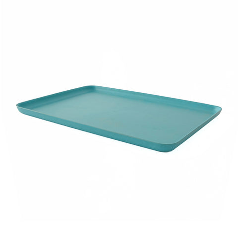 Light blue large rectangular serving tray