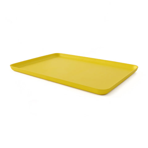 Lemon yellow large rectangular serving tray