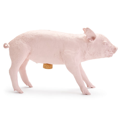 Bank in the Form of a Pig, Matte Pink