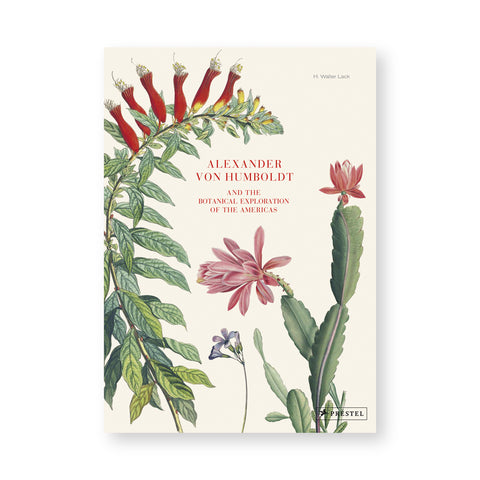 Cream colored book cover with plant illustrations arched around title in small red serif letters in the center