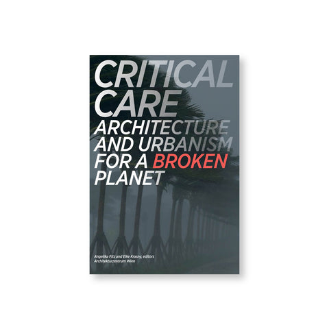 "Book cover with photograph of a row of trees in a storm with high winds and a gray sky. Title in italicized sans serif font in white fading to transparent with the word ""Broken"" in red"