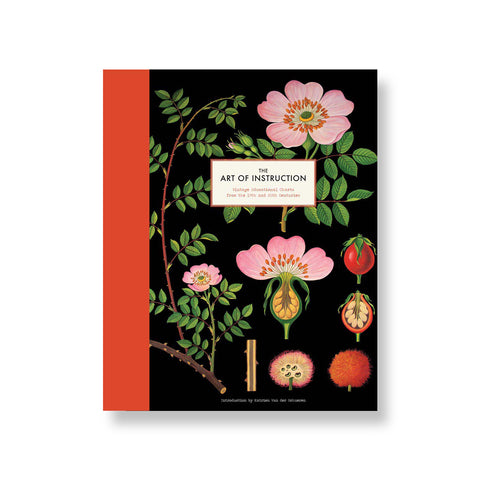 Black book cover with bright red spine showcasing colorful plant drawings and cross sections