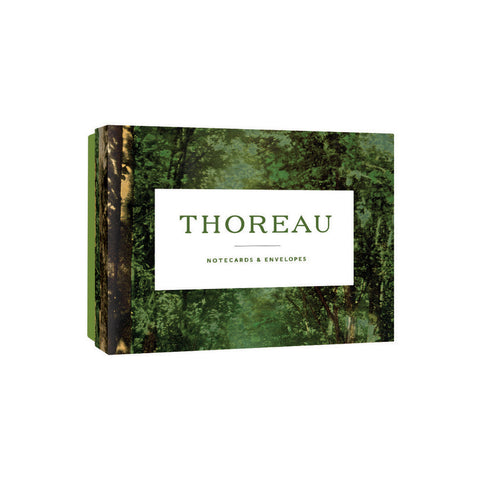 Notecard box with lush colorized photograph of forest foliage with title in white box in center