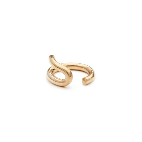 Lasso Ring; thick ring with curved detail