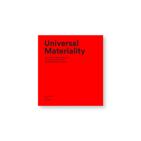 Red book cover with title in sans serif black letters at top right