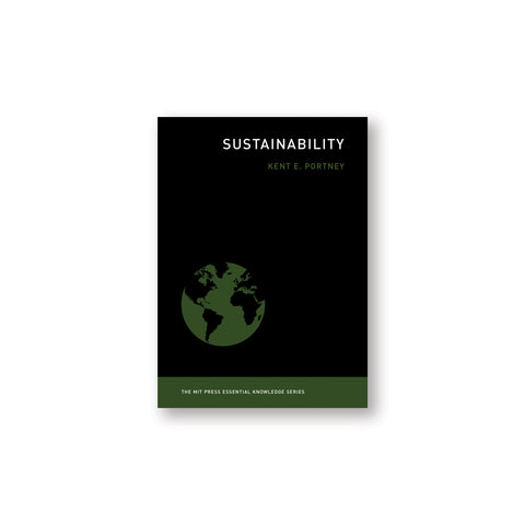 Black book cover with illustration of earth in dark green and black. Title in white upper right