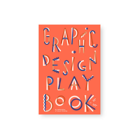 Pinkish orange book cover with large spread out title. Title font is in white orange and blue overlapping lines some straight some zig zag some squiggles