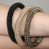 Beaded Bangle Dark Gold