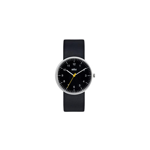 Braun Men's Analog Watch, Black Face with Black Band