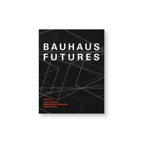 Black book cover with white lines forming intricate angles and geometries under a bold sans serif title in white