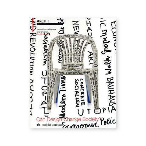 White book cover featuring a white chair. Both the cover and the chair are covered in handwritten words