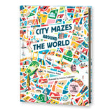 A very whimsical cover featuring an illustrated map of a city. Shades of red, blue, yellow, and green make up the map-like cover of this book.