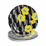 Crevel 4-piece plate set in yellow
