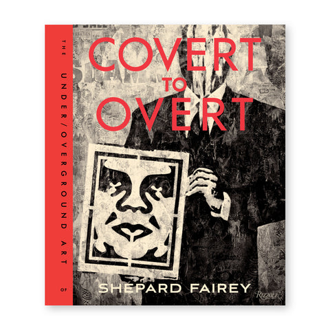 Book cover featuring an art piece of a figure holding a print of a face all printed on collaged newspaper print. Title overlaid in red letters at top and subtitle in black along a red spine