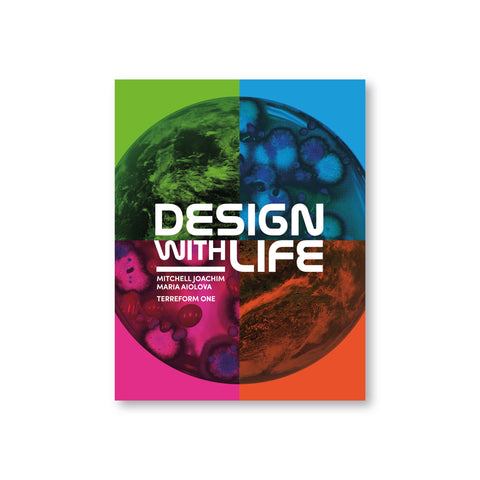 Book cover colored in quads of green, blue, fuchsia, and orange; title in white bold type.