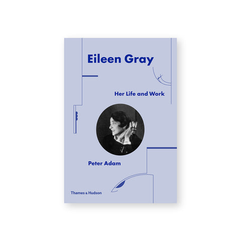 Lavendar cover with black and white image of Eileen Gray.