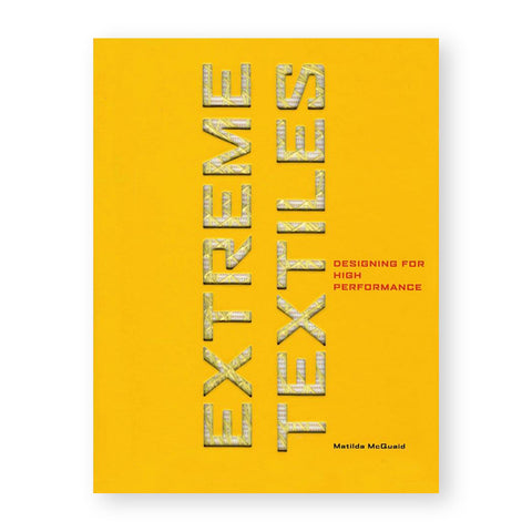 Bright yellow book cover with diecut sans serif letters showing yellow fiber pattern and print below spelling out book title
