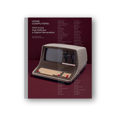 Burgandy cover with a gray spine, featuring a vintage gray computer at the center. The title and the author's names are placed on the top left corner using white font.