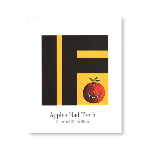 "White book cover features a small hand-drawn smiling apple beneath the black ""IF"" designed using large bold font over a yellow square at the center. The title and the author's names are visible at the lower part of the cover at the center."