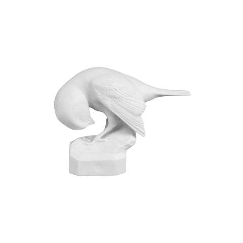 Bisque Porcelain Sparrow is a naturalistically drawn bird, fully formed in character, with beautifully detailed plumage and features.