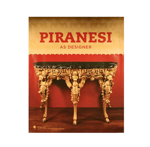 Book cover with golden patterned field with red title over an ornate gold and stone table on wood floor