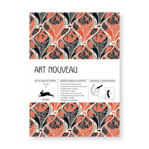 Art Nouveau Textiles Gift and Creative Paper Book
