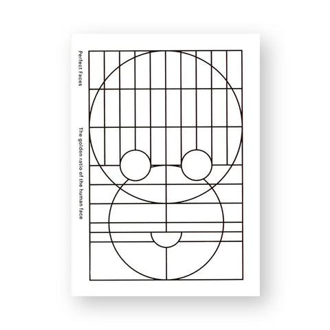 White book cover with geometric black circles and lines making a face pattern.