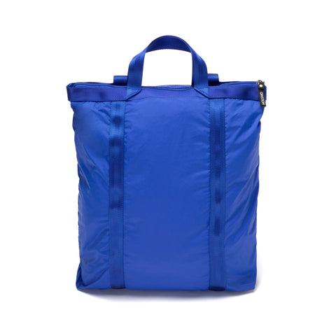 Royal Blue nylon backpack with ripstop webbing trim