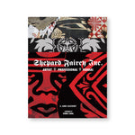 Shepard Fairey Inc. book cover featuring three layers of black and red graffiti. The title text in a gothic font at the center of the page.