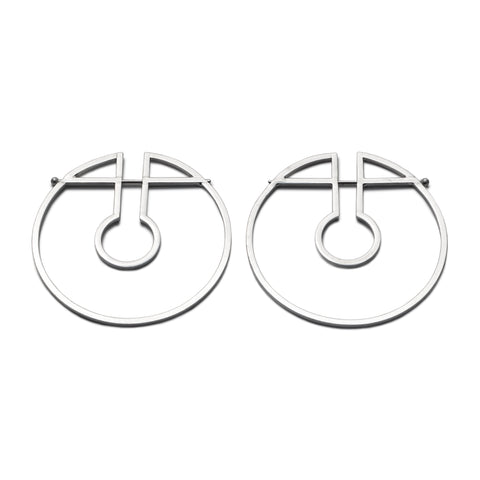 Big Wire Hoop Earrings
