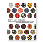 White book cover gridded with circles showing various textile design patterns from history and  title information in the middle