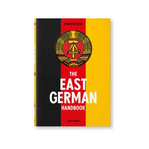 Book cover with three vertical stripes in black, red, and yellow . Title in white text at the bottom. Emblem printed above the text in black and yellow