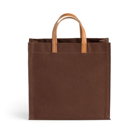 Amsterdam Bag Brown and Saddle Handle