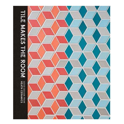 Book cover with textured tessellated pattern in gray blues and pinks. Title vertically printed in white on black spine