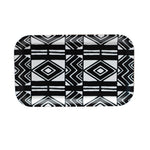 Diamond pattern small rectangle tray in black and white