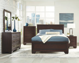 Kauffman Eastern King Panel Bed Dark Cocoa - 204391KE